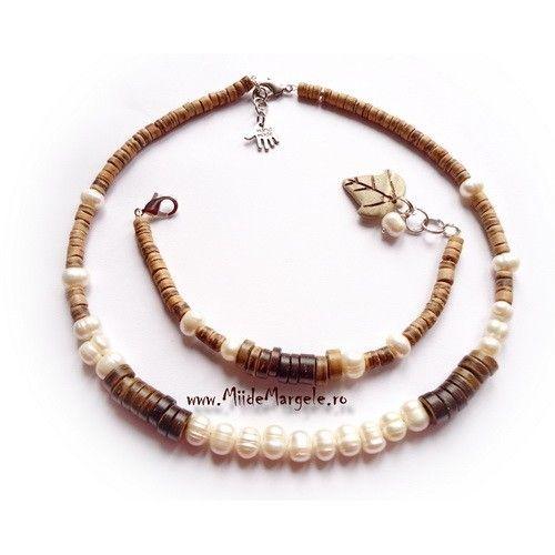 Perle naturale Grad A, dimensiune 8-9mm, albe, orificiu 0.8 mm, 1 sirag