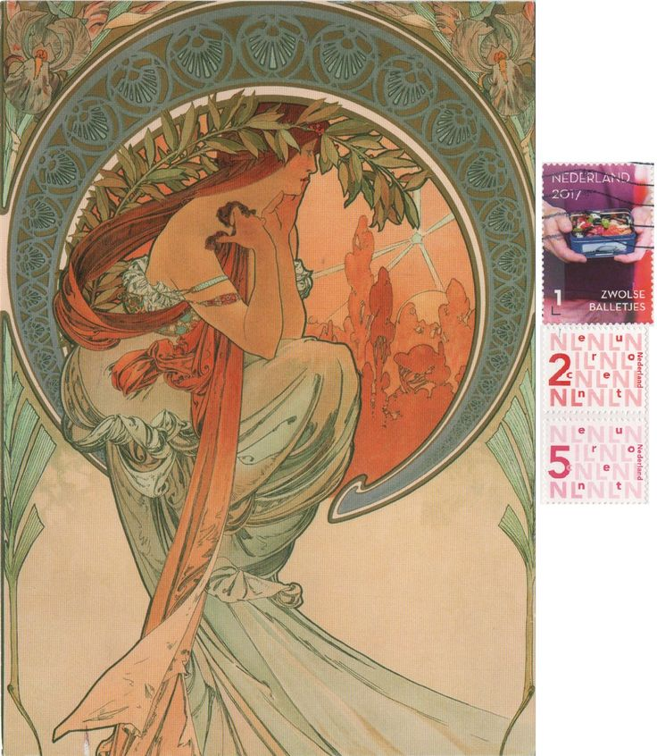NL-4010616 (2018°7) - Arrived: 2018.01.22.   ---   Mucha - The Arts series - Poetry (1898)