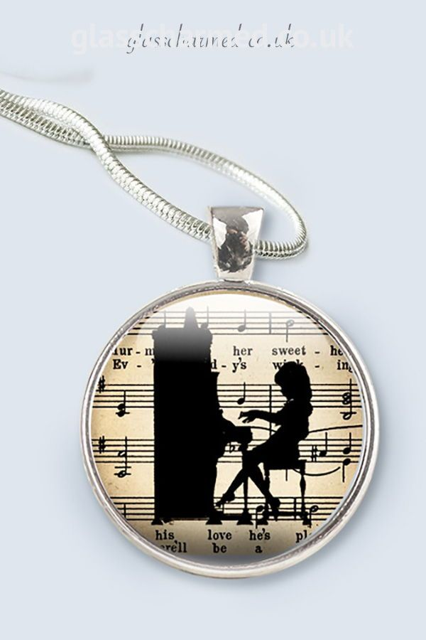 Music Jewellery Gifts For Music Lovers Silver Pendant Gift For