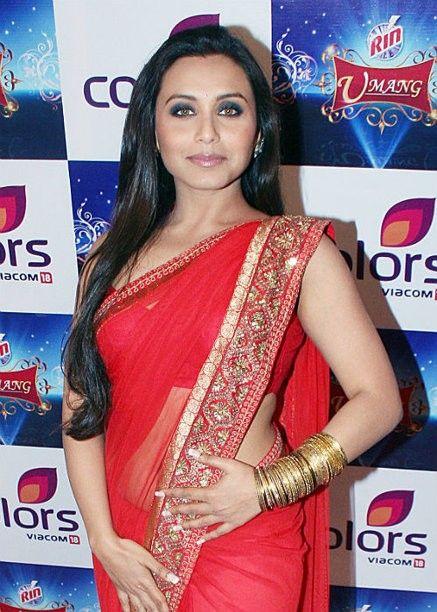Rani Mukherjee - bright red saree