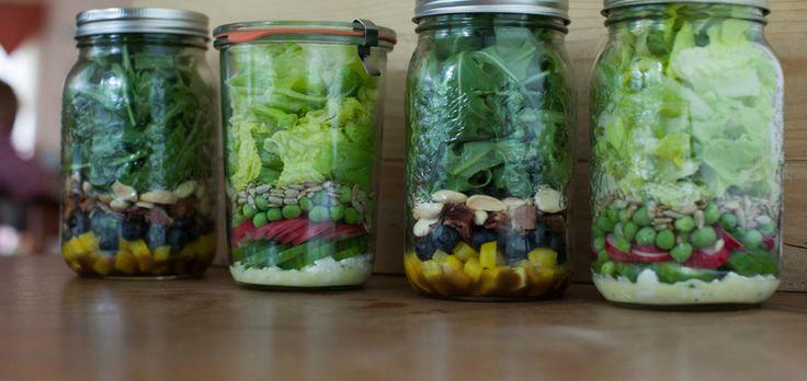 Crunch-crunch: A week of (make ahead) spring salads in jars
