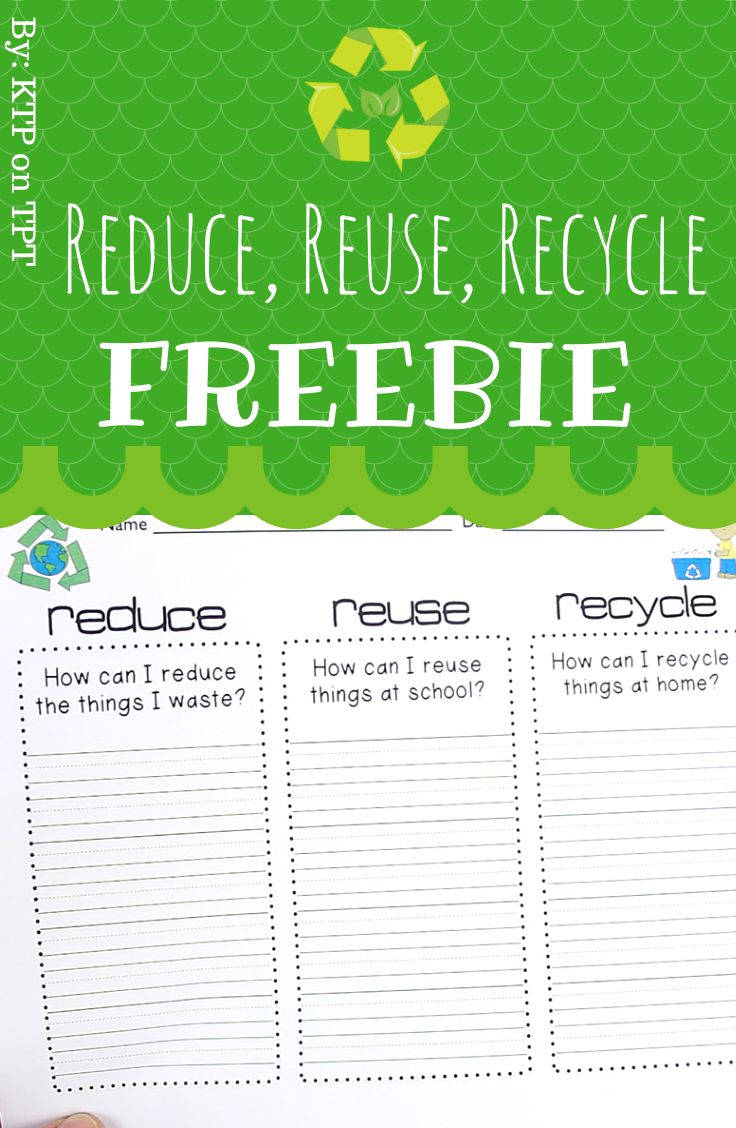 Reduce reuse recycle activities - Reduce Reuse Recycle Freebie By Ktp On Tpt