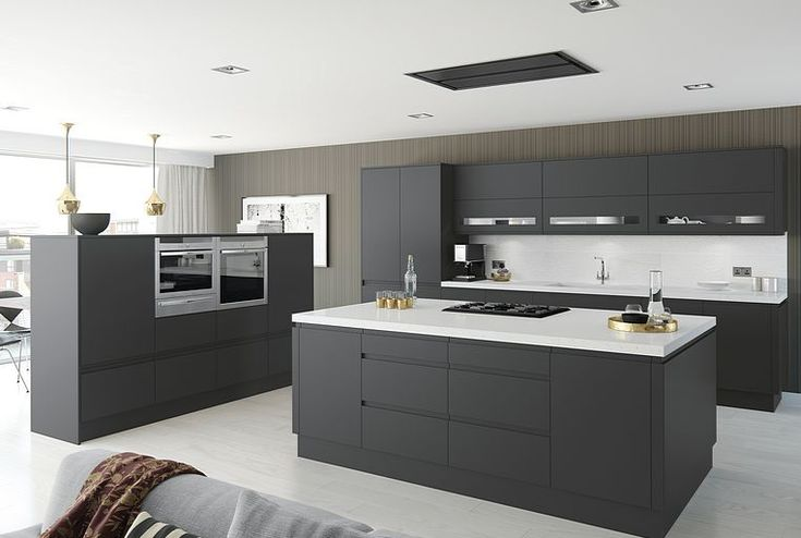 Moderna Handleless Graphite Matt kitchen (Moda) | Better Kitchens Ltd
