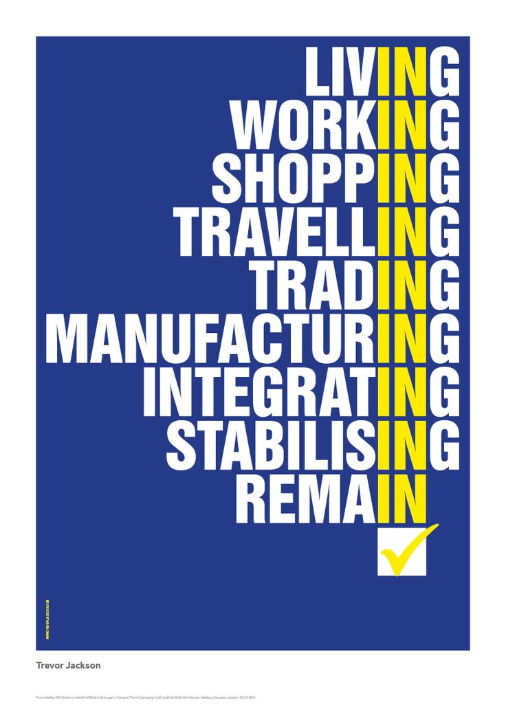 Anti-Brexit REMAIN! Trevor Jackson poster