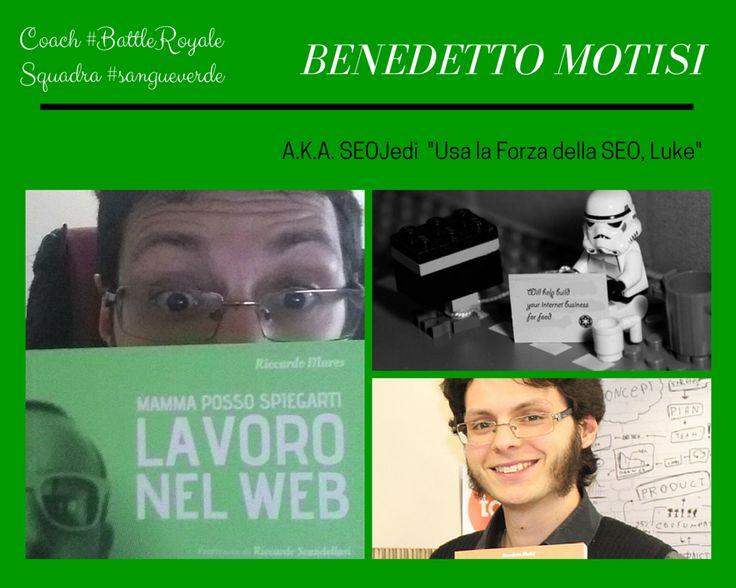 Consulente integro e ineccepibile, ma allo stesso tempo vulcanico e travolgente, nerd abbastanza per lavorare nel Search Engine Optimization, è lui, Benedetto Motisi, coach di #BattleRoyale squadra #sangueverde.