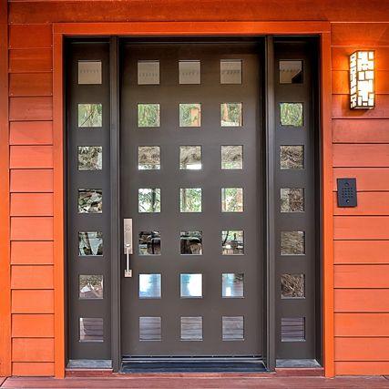 Genesee Entry Door (Exterior) (Square Top Rail, 21 Lite + 14