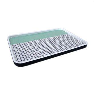 OTHER - Minty Grid Melamine Tray - Kerridge Linens & More