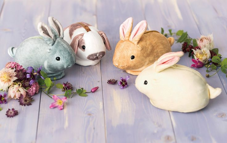 Go out with the lovely bunny every day.|YOU+MORE ! Dreamy and Soft Bunny Pouches Collection