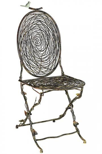 Not sure how comfy this would be, but loving the look ~ Nest Folding Chair.: Dining Room, Nest Folding, Bird Nests, Gardens, Kitchen, Furniture, Folding Chairs, Birds