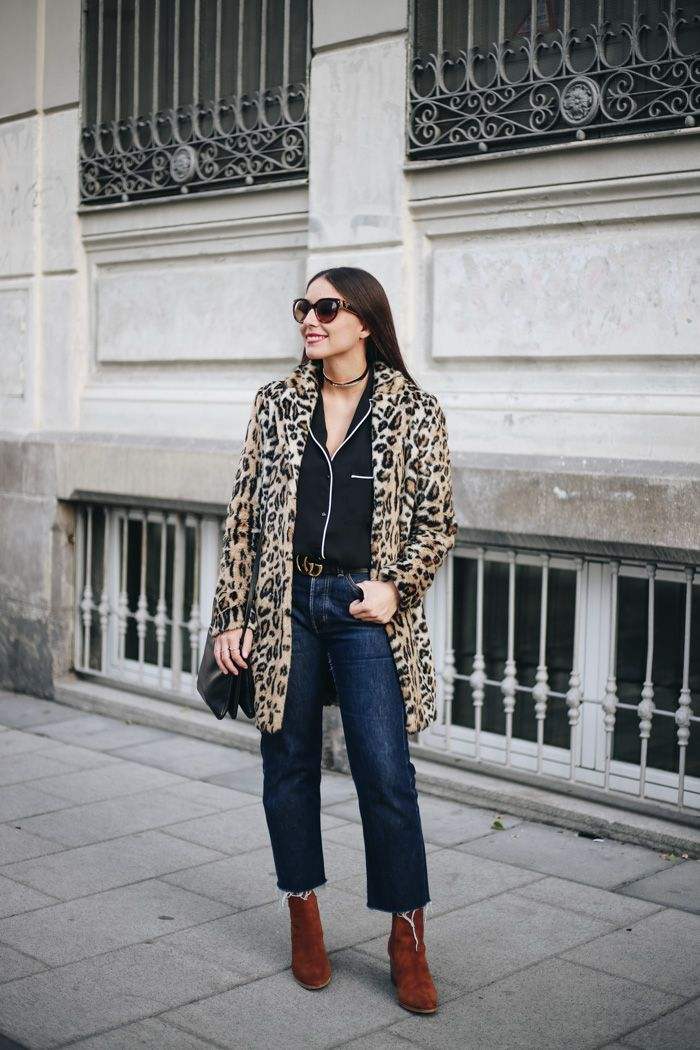 ALL THAT SHE WANTS - blog de moda: Camisa pijamera y abrigo de leopardo