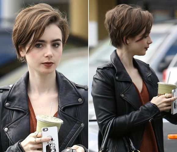 Pinterest has figured out I love Lily Collins' pixie cut. ^.^
