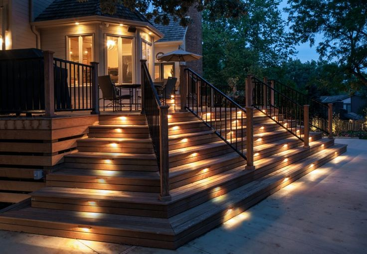 59 best deck lighting images on pinterest backyard ideas deck 15 stairway lighting ideas for modern and contemporary interiors aloadofball Gallery