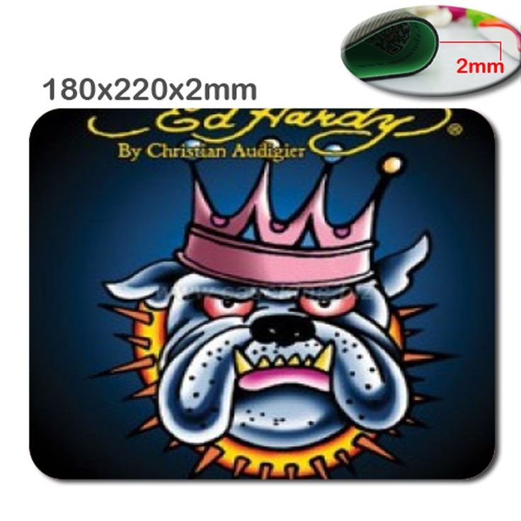 Hot custom special non-slip durable fast printing mouse pad king Ed Hardy dog cushion, home and office of the blue