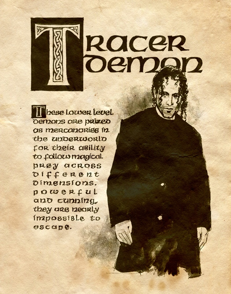 Tracer demon charmed book of shadows book of