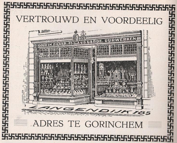 Boekje Gorinchem - 1925 - pagina 22 - Advertentie van de Garde juwelier Langendijk 185