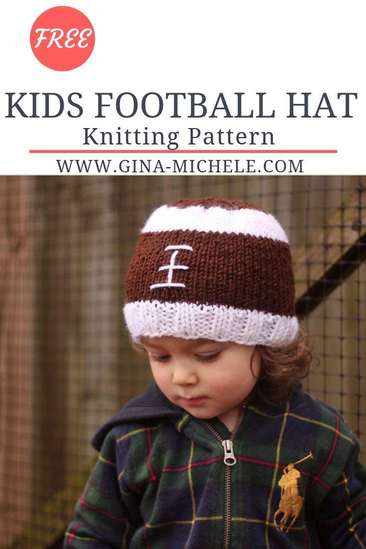 Football Baby Hat Knitting Pattern Gina Michele Knitting Patterns