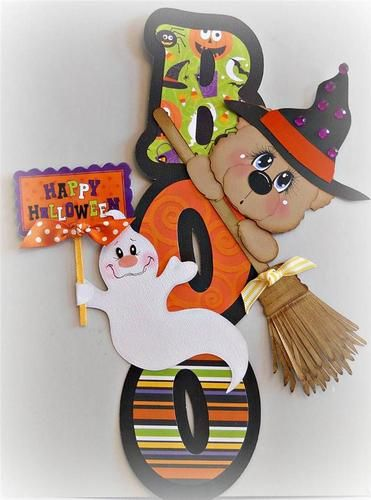 ELITE4U Scrappinwmn Premade Scrapbook Page Halloween Bear Border Paper Piecing | eBay