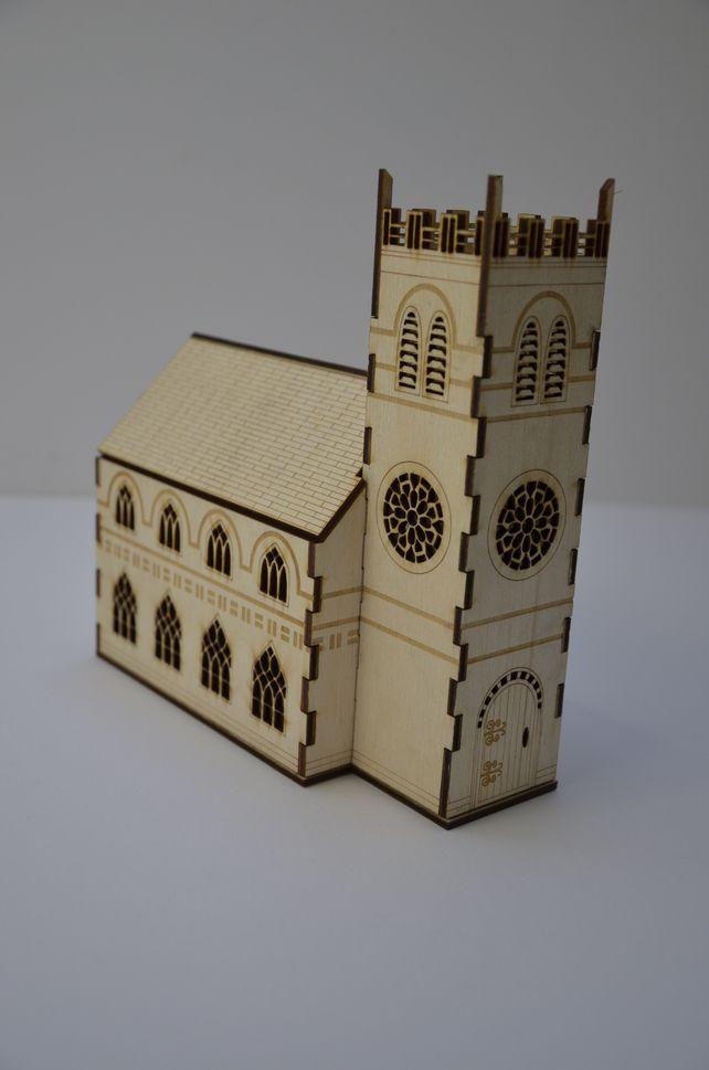 Laser cut church nightlight