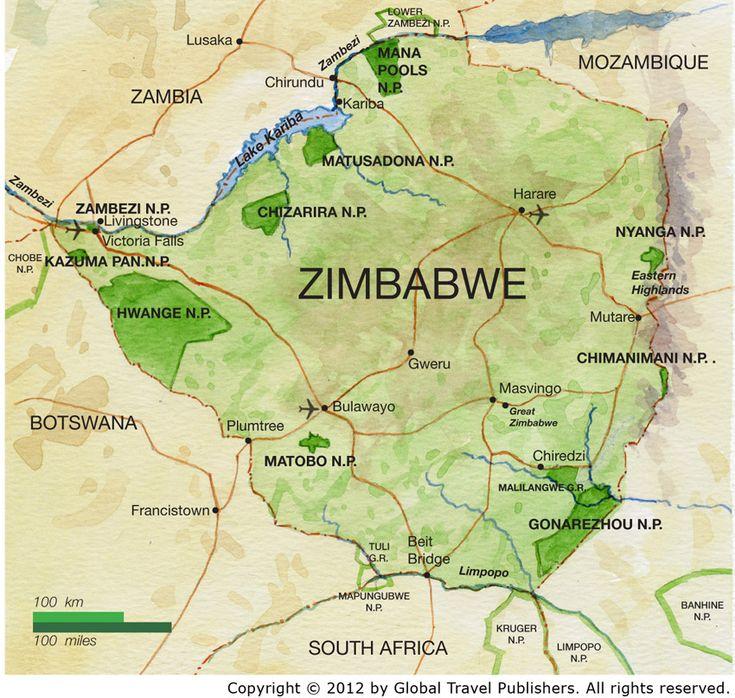 Map Of Zimbabwe Africa The Africa Adventure Company Map Of - Republic of zimbabwe map