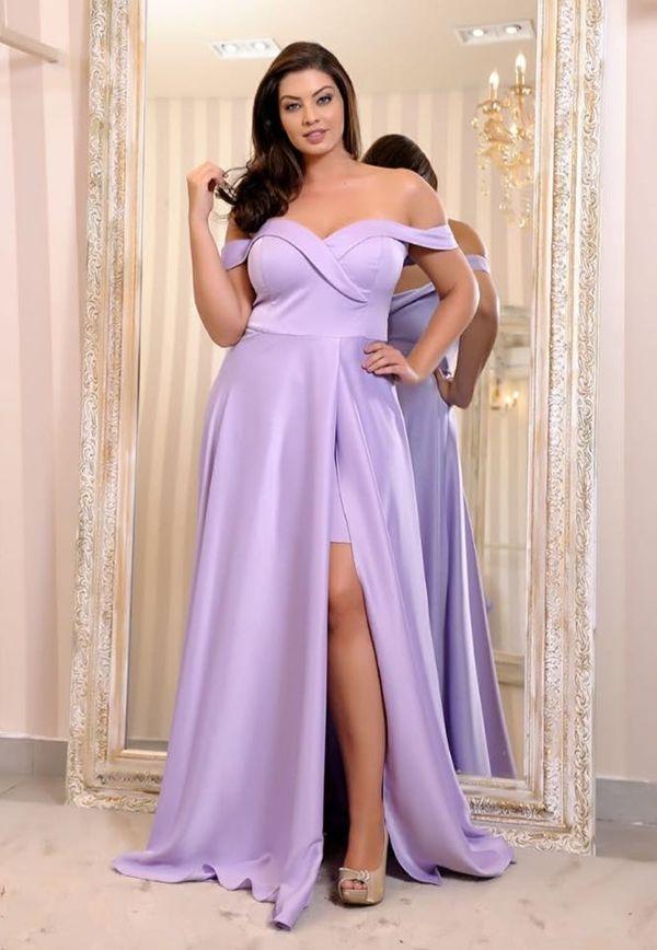 vestido longo lavanda plus size. vestido longo lavanda plus size Plus Size  Evening Gown 32e95ce97567