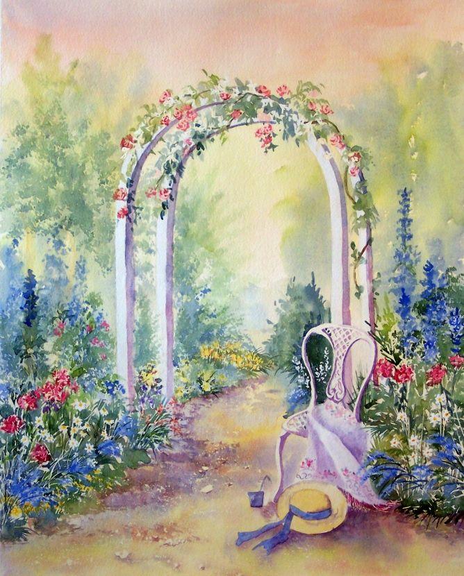 Summer Archway ~ Pamela West watercolor artist