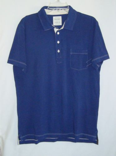 BILLY-REID-Pensacola-Navy-Short-Sleeve-Mens-Polo-Shirt-Size-L