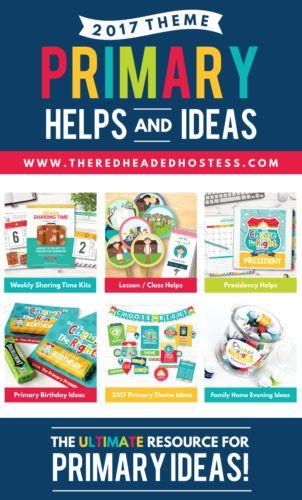 2017 LDS Primary Theme Helps