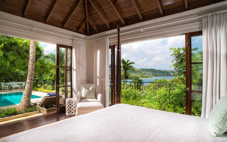 A guide into the top luxury hotels in the Caribbean, including the best for palatial bedrooms, extravagant spas, dramatic clifftop settings, striking architecture and white sand beaches, in locations including Barbados, Jamaica, Antigua and Barbuda, Saint Lucia and St Kitts and Nevis.