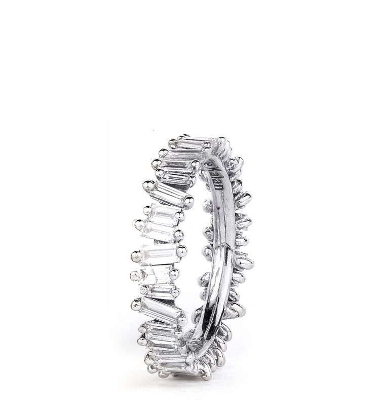 Shop :: PRODUCT LINE :: Rings :: 18K WHITE GOLD ETERNITY BAGUETTE BAND - Suzanne Kalan