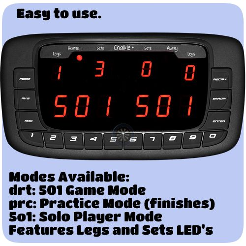 Scoreboards - Compact Dart Scorer - Electronic Scoring System - Dartsmate - Chalkie + Plus - http://www.dartscorner.co.uk/product_info.php?cPath=489&products_id=68504