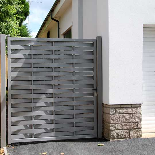 Contemporary Metal Driveway Gates