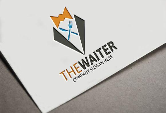 The Waiter Logo by Josuf Media on Creative Market