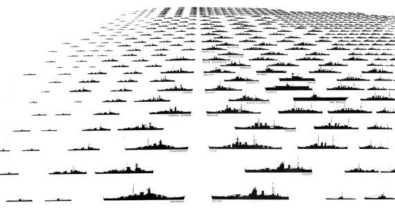Battleships by JeffreyLouisReed on Etsy, £65.00