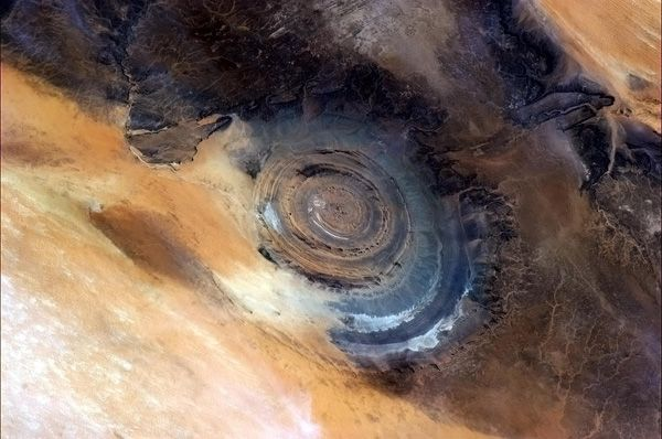 "Commander Chris Hadfields Space Blog 4 - ""Undoubtedly one of the coolest space sights on Earth, the Richat STructure of Mauritania."" Jan 20"