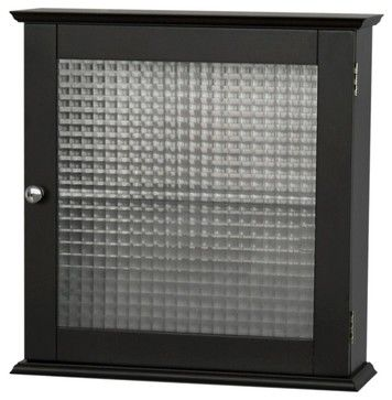Chesterfield Medicine Cabinet w Glass Panel D - contemporary - Medicine Cabinets - ivgStores