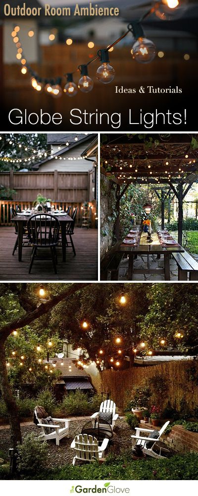 Outdoor Room Ambience: Globe String Lights! • Tips, Ideas and Tutorials! #pinnersconf