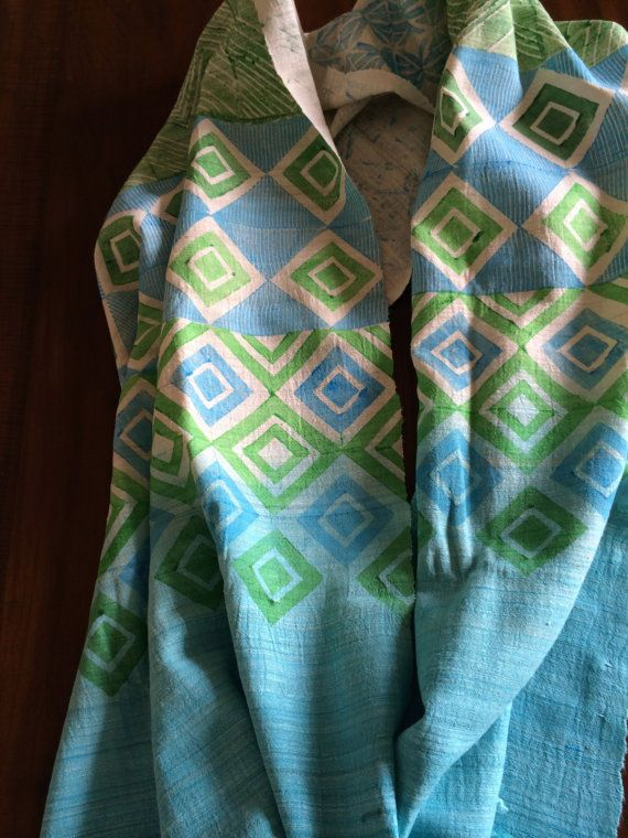 eri printed stole by kopoushop on Etsy
