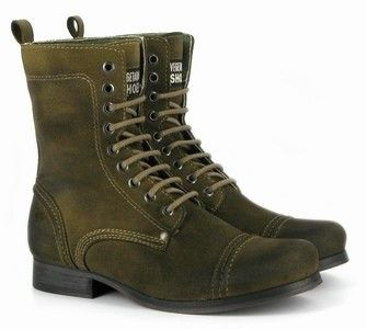 Vintage Boot in Olive from Vegetarian Shoes