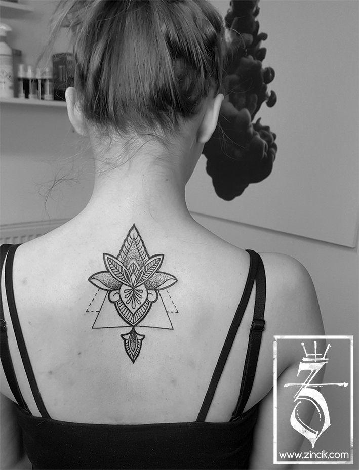 Martin Tattooer Zincik - Czech tattoo artist  - Lotus Tattoo mandala on back , Tetování na zádech Brno / Praha