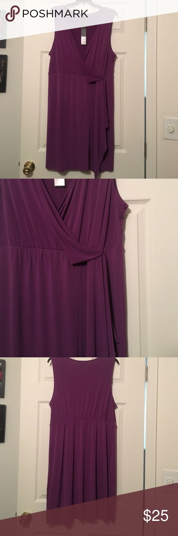 Daisy Fuentes Dress Plum colored Daisy Fuentes dress. Soft flowy fabric. New with tags from a non smoking home. Size: XL Daisy Fuentes Dresses Midi