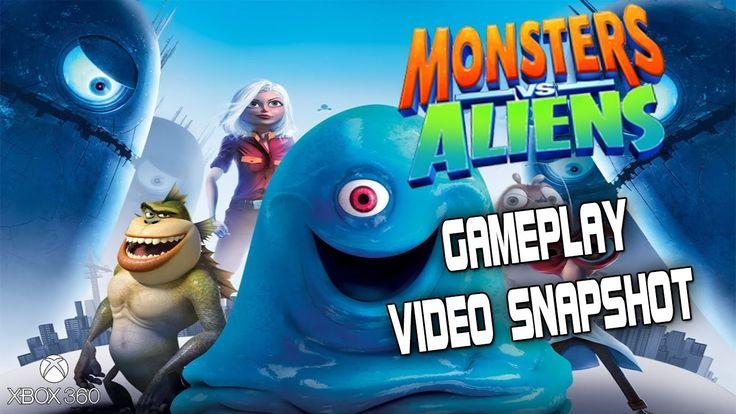 Monsters VS Aliens XBOX 360 Gameplay Video Snapshot 1080p 60fps