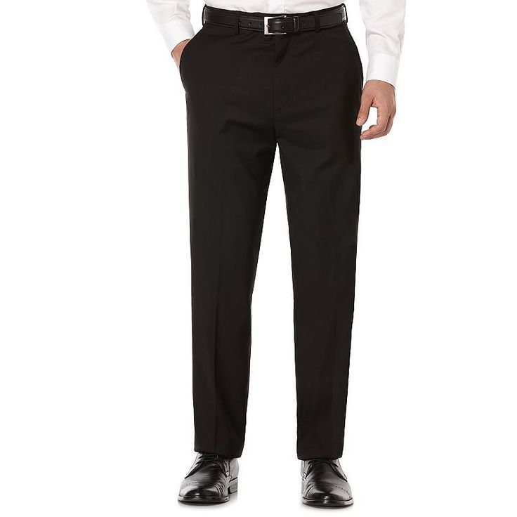 Savane Premium Flex Gab Stretch Dress Pants, Men's, Size: 36X34, Dark Grey