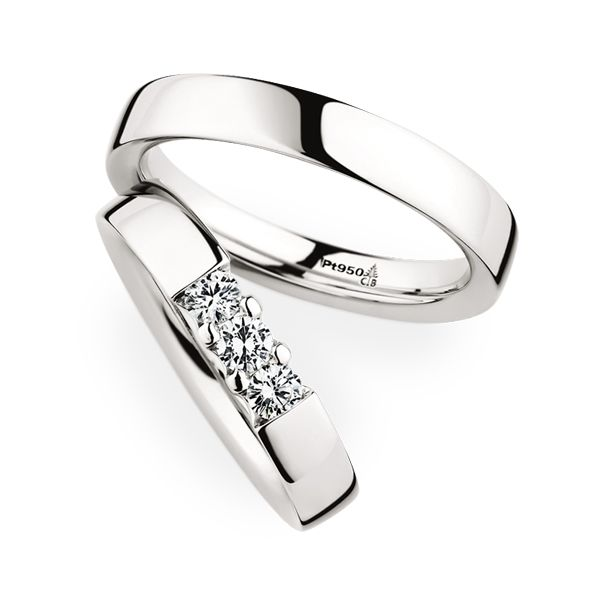 christian bauer gorgeous platinum wedding bands with diamonds for her 280001 243608 - Platinum Wedding Rings
