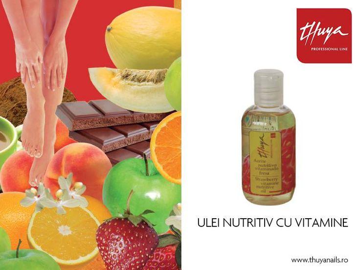 Ulei nutritiv cu vitamine Pentru o piele hidratată, cu aromă fructată: căpşuni.