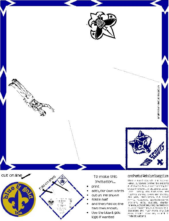 1000 images about scouts blue gold on pinterest for Cub scout blue and gold program template