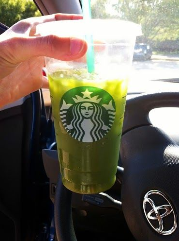 Mega Matcha Addiction...Secret Starbucks drink that is healthy and tasty. The drink is called a Venti Matcha on ice. Simply ask for three scoops of matcha powder (they use this to make their green tea lattes) mixed with water. You'll end up with a big green refreshing beverage that tastes a lot like iced tea.