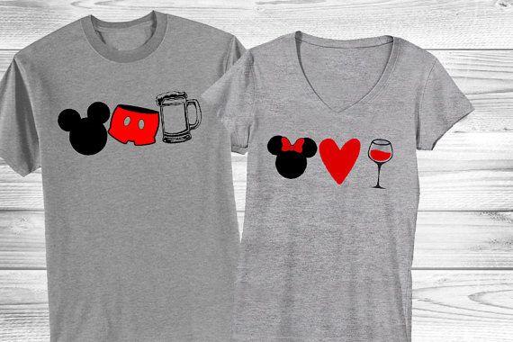 Drinking Around the World Couple's Shirts