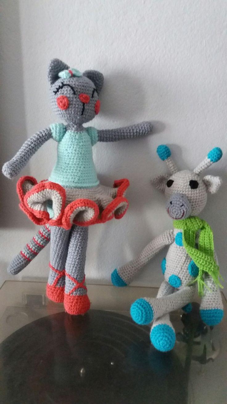 Gatita ballerina Jirafa bufanda, técnica ganchillo/crochet #ganchillo #crochet #amigurumi #tejido