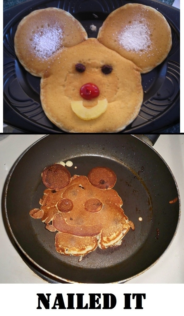 The resemblance is uncanny. Never too old for MM pancakes