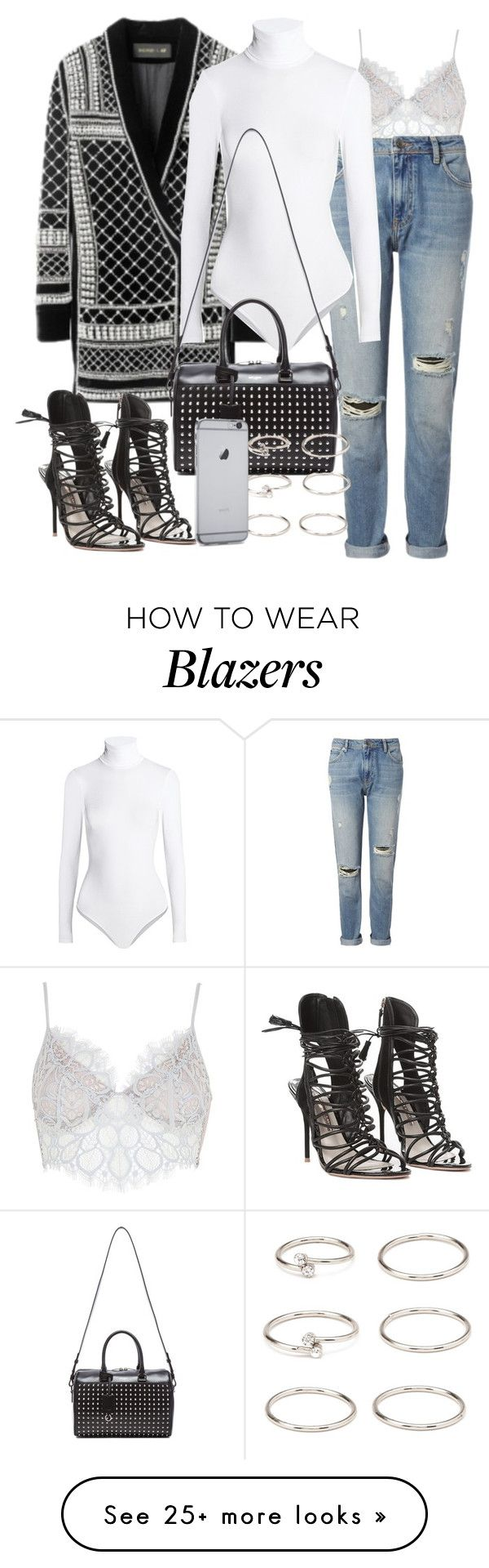 """""""Untitled #1776"""" by eleanorwearsthat on Polyvore featuring For Love & Lemons, Whistles, Wolford, Sophia Webster, Yves Saint Laurent and Forever 21"""